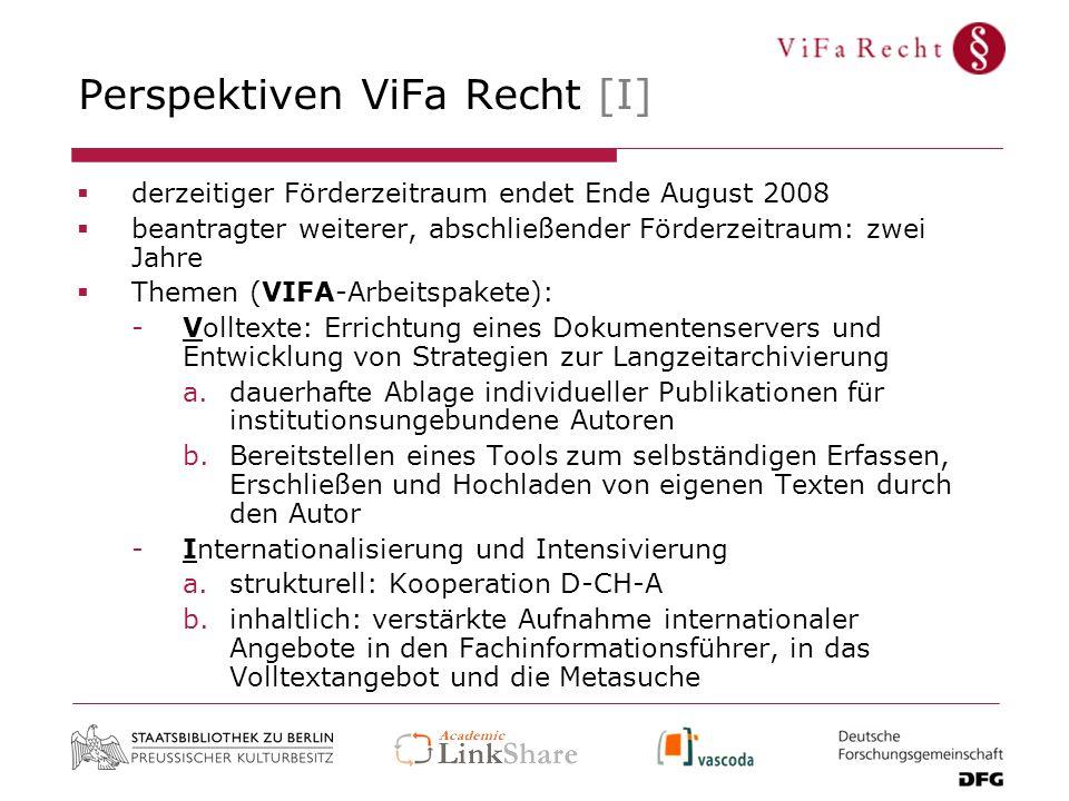 Perspektiven ViFa Recht [I]